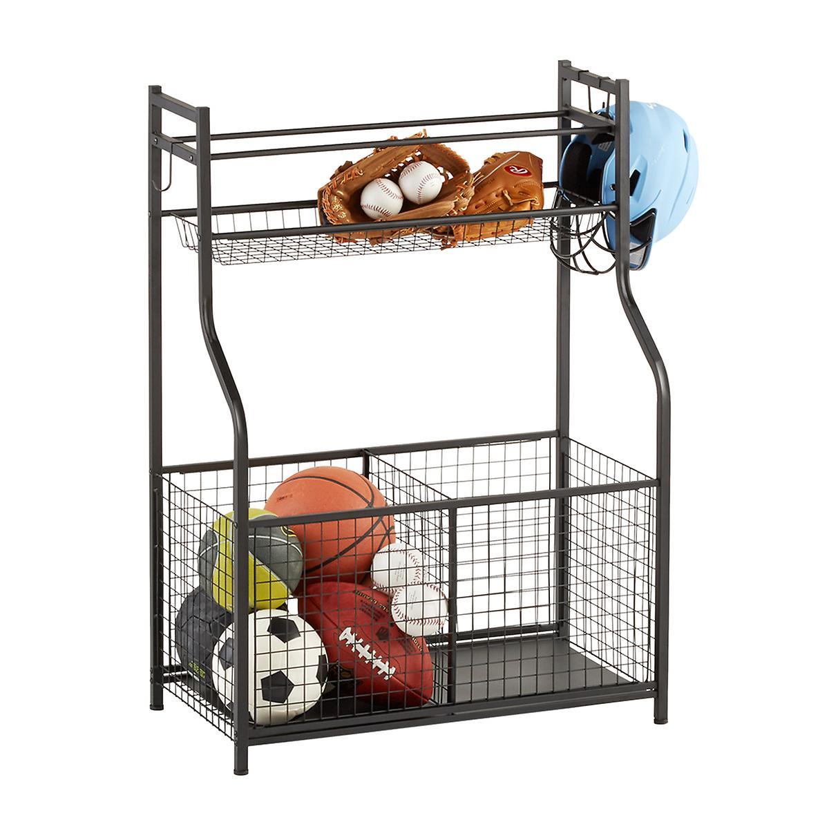 Garage Sports Organizer: Heavy-Duty Sports Storage Rack