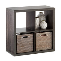 Weathered Smoke 4-Cube Cubby Shelving Product Image