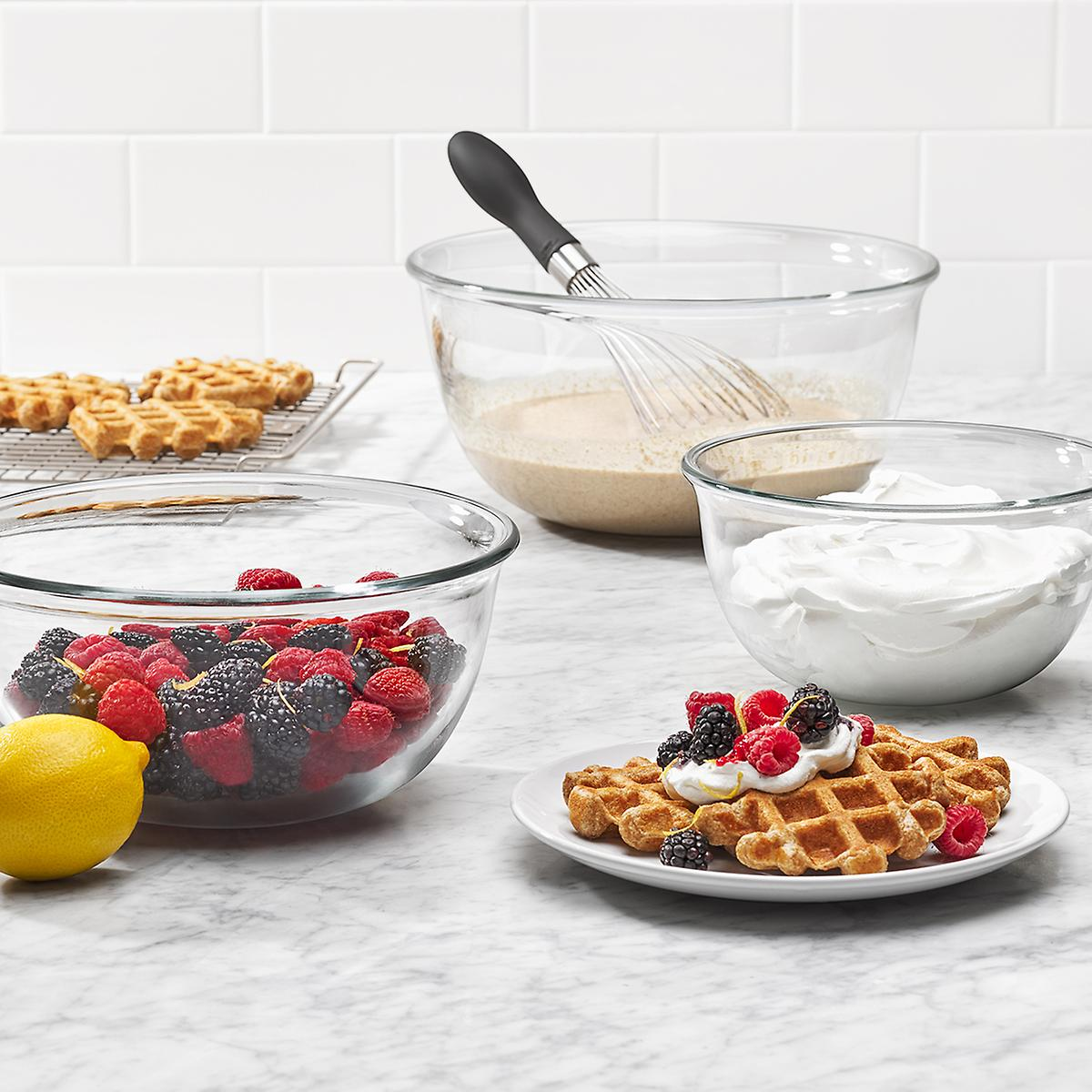 OXO Good Grips Glass Mixing Bowls Set of 3