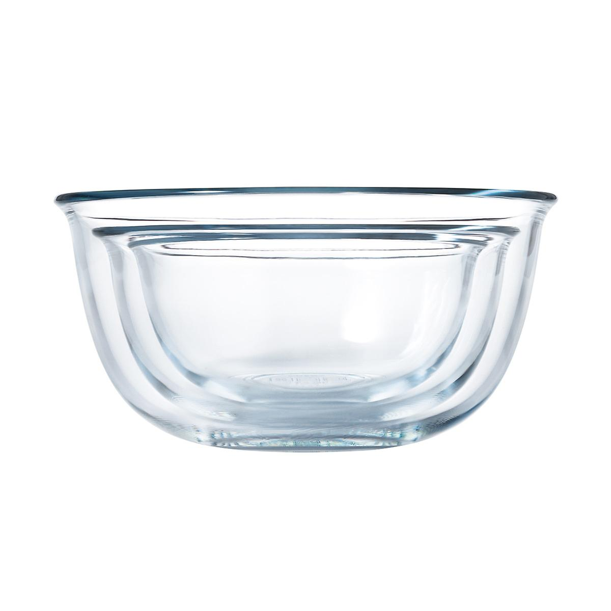 oxo good grips glass mixing bowls set of 3 the container store. Black Bedroom Furniture Sets. Home Design Ideas