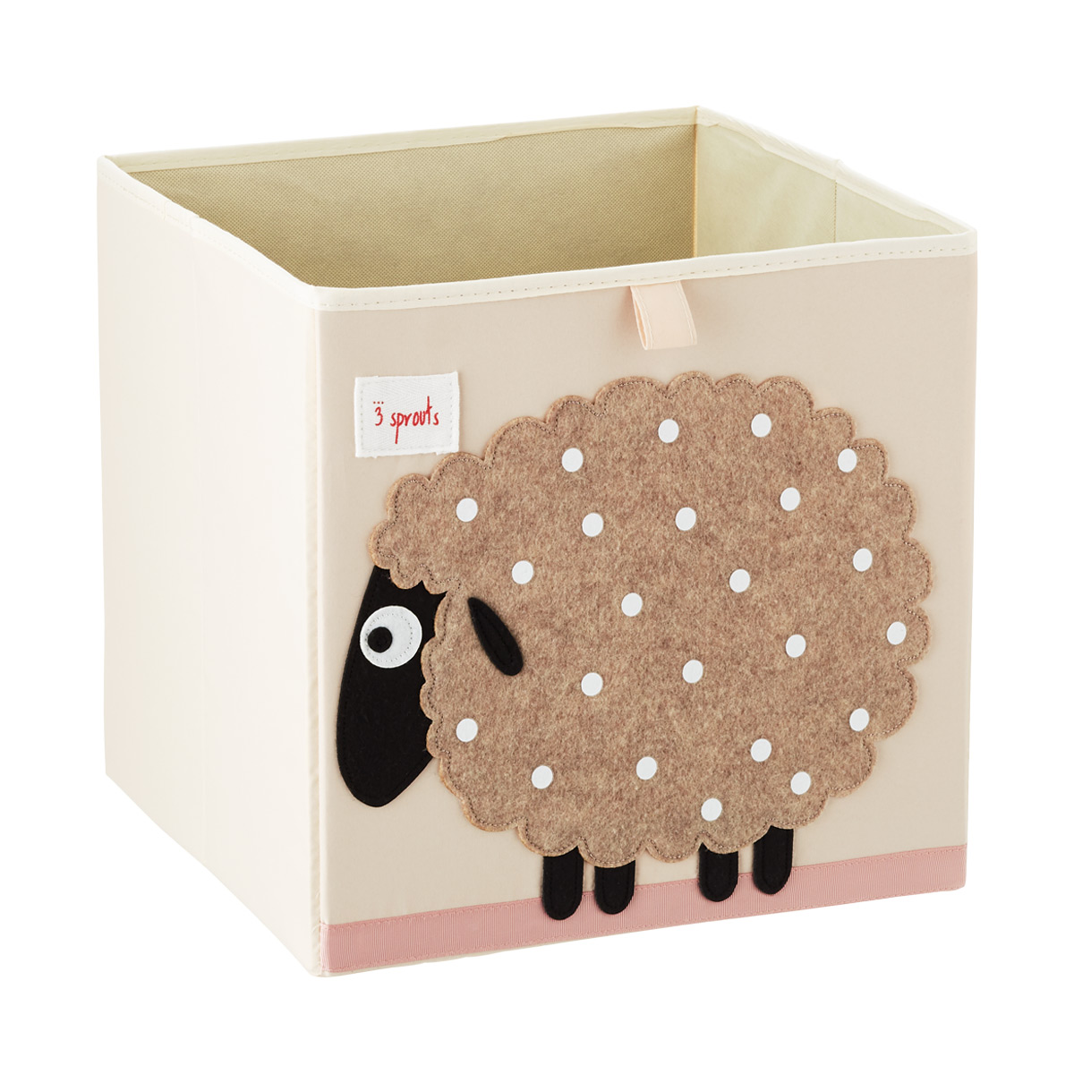 3 Sprouts Sheep Toy Storage Cube