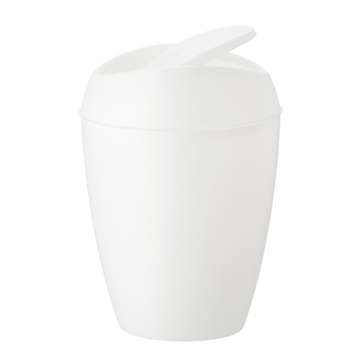 Umbra 2.4 gal/9L Metallic White Twirla Trash Can