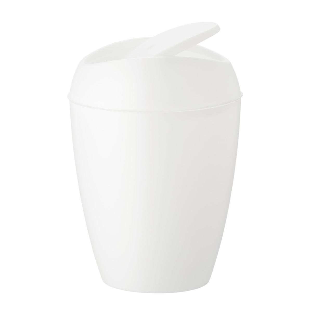 Umbra 2.4 gal/9L Metallic White Twirla Trash Can
