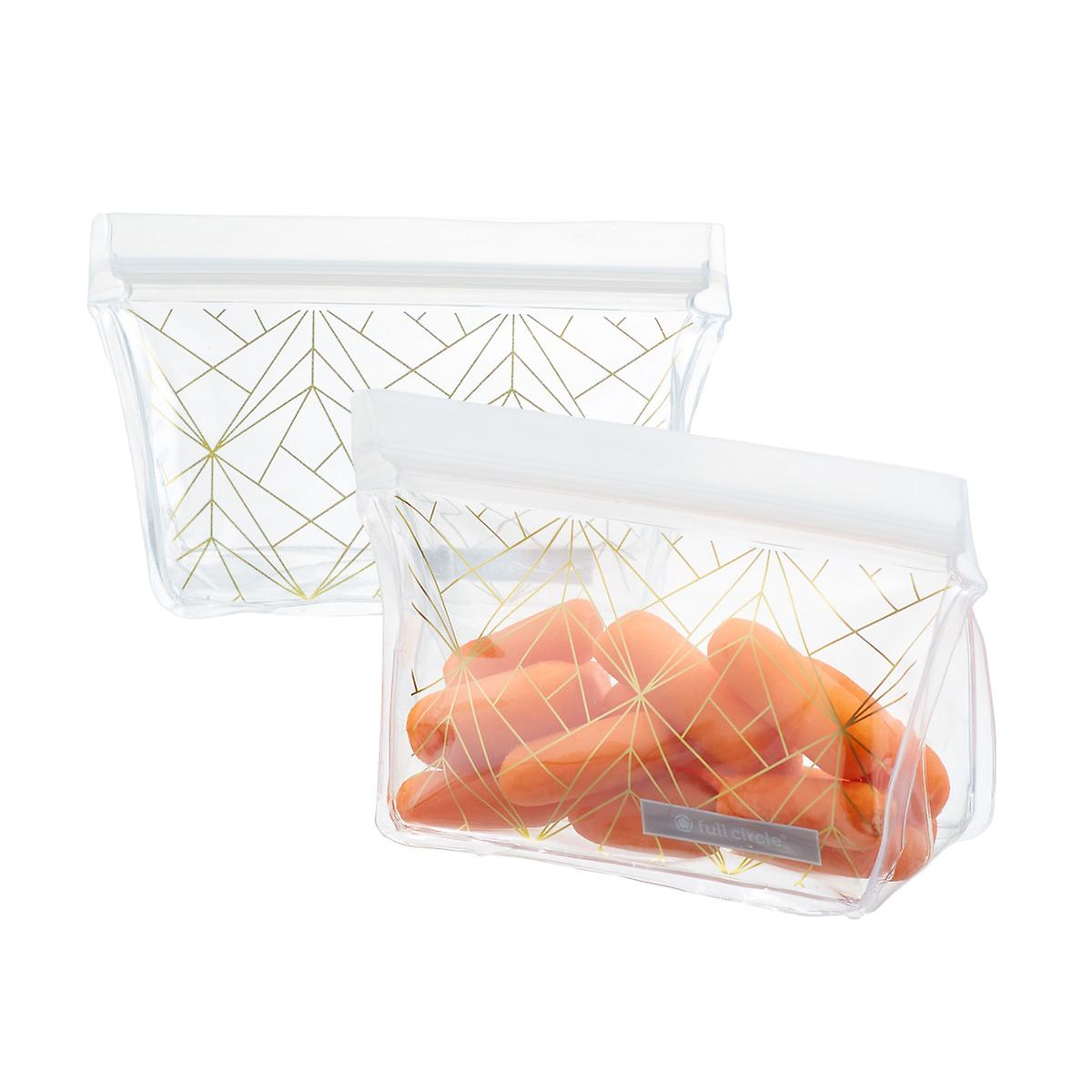 Full Circle Gold Geo Reusable Snack Bags