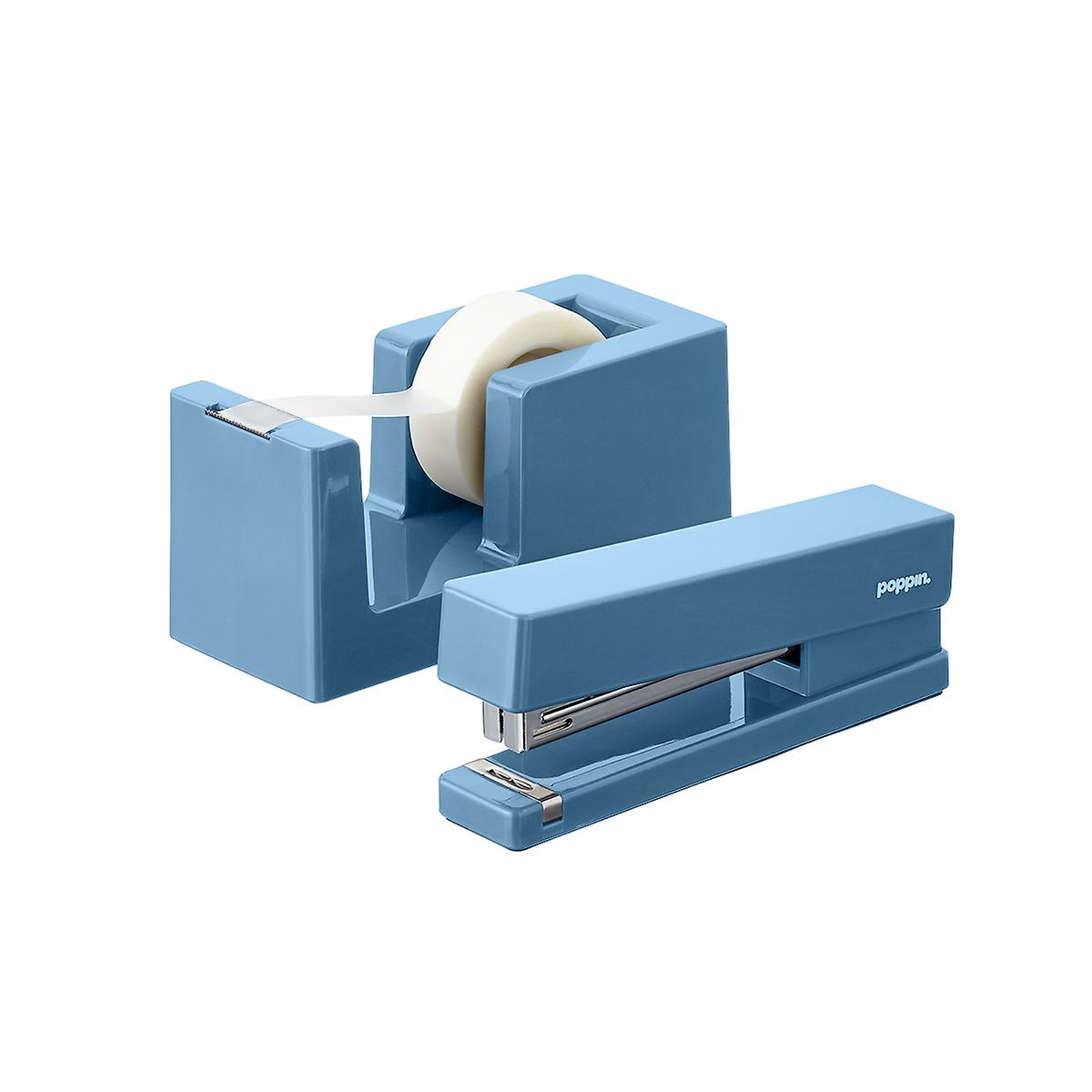 Slate Blue Poppin Tape Dispenser & Stapler