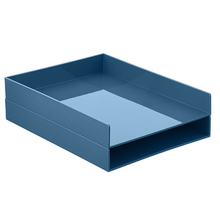 Slate Blue Poppin Stackable Letter Tray