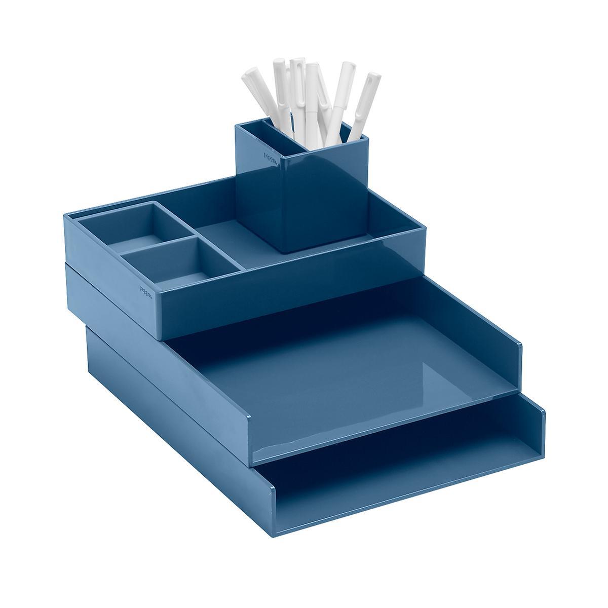 Slate Blue Poppin Letter Tray Starter Kit