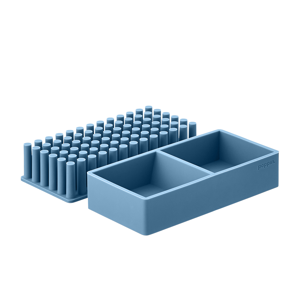 Slate Blue Poppin Silicone Organizers