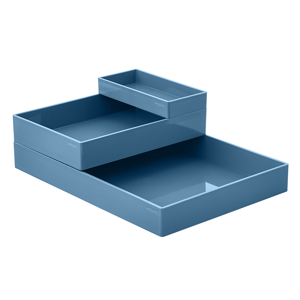 Slate Blue Poppin Accessory Trays