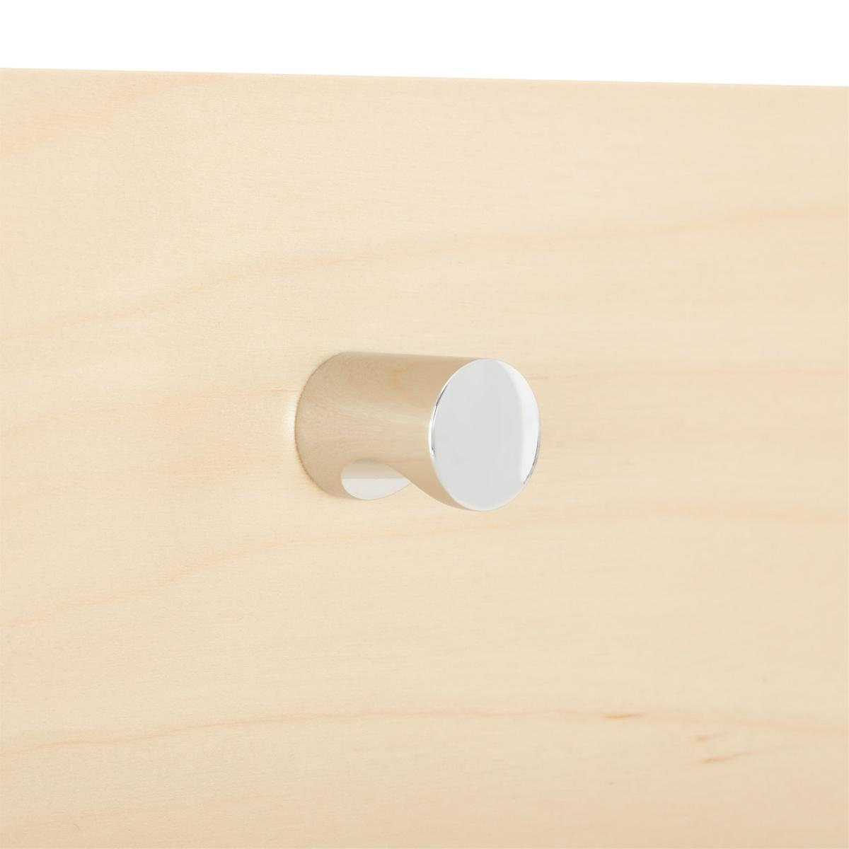 Elfa Decor Chrome Modern Knob