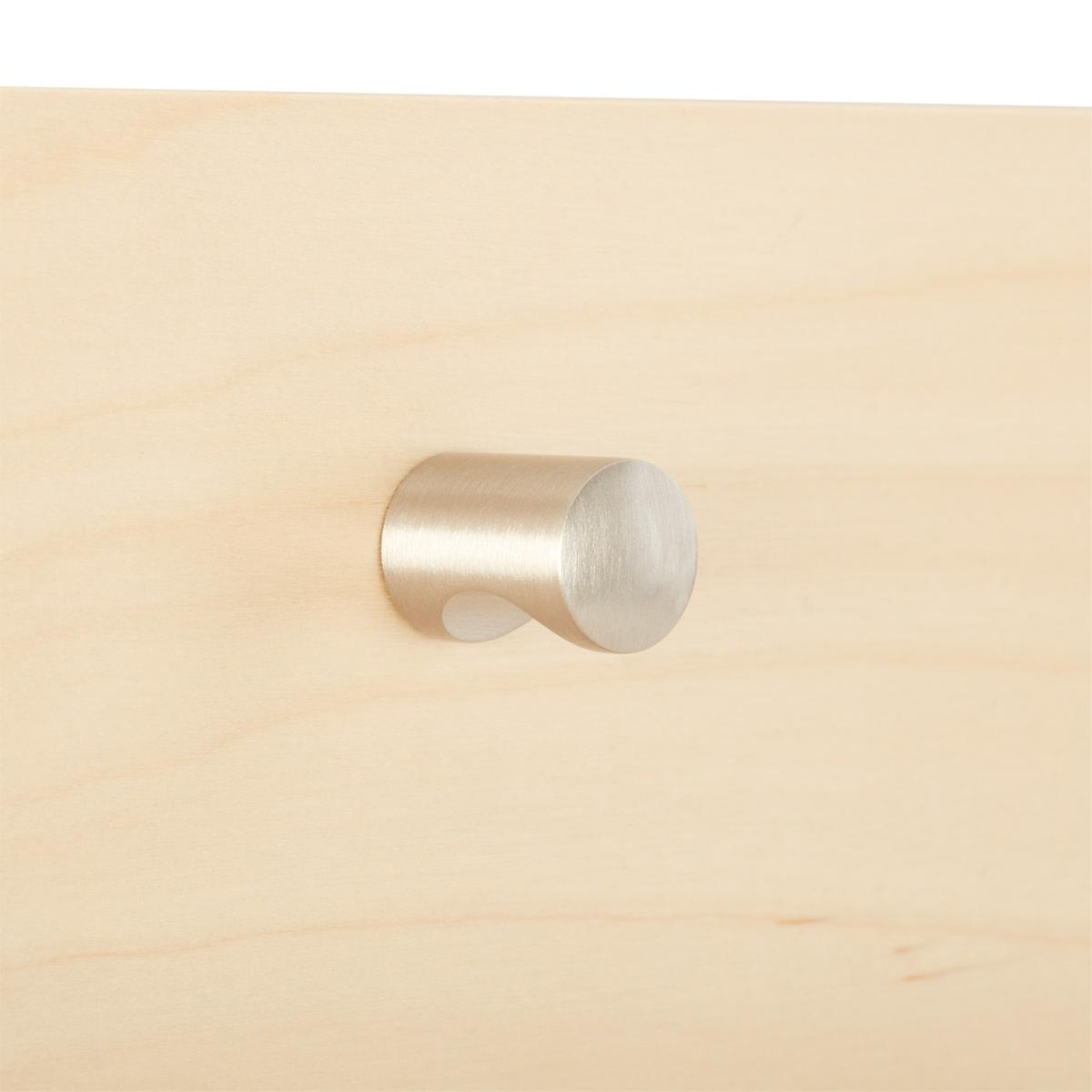 Elfa Decor Brushed Nickel Modern Knob