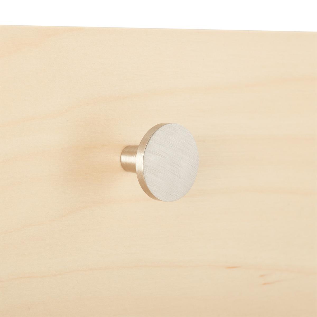 Elfa Decor Brushed Nickel Flat Knob