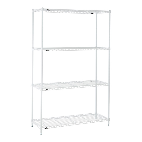 InterMetro White 4-Shelf Starter Unit