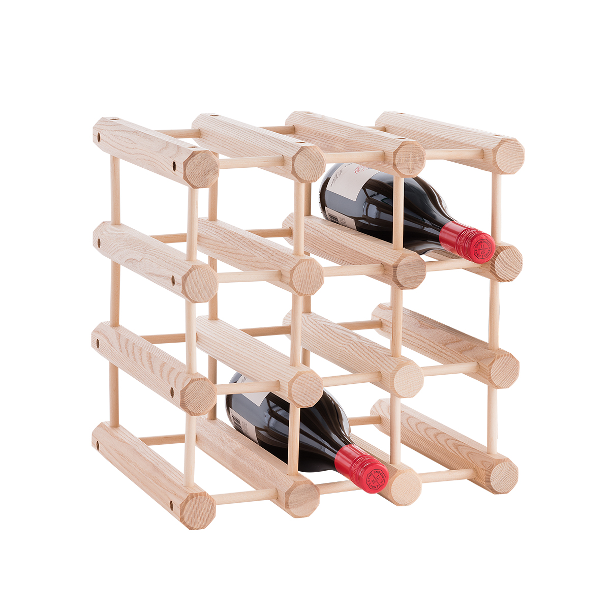J.K. Adams Hardwood 12-Bottle Wine Rack