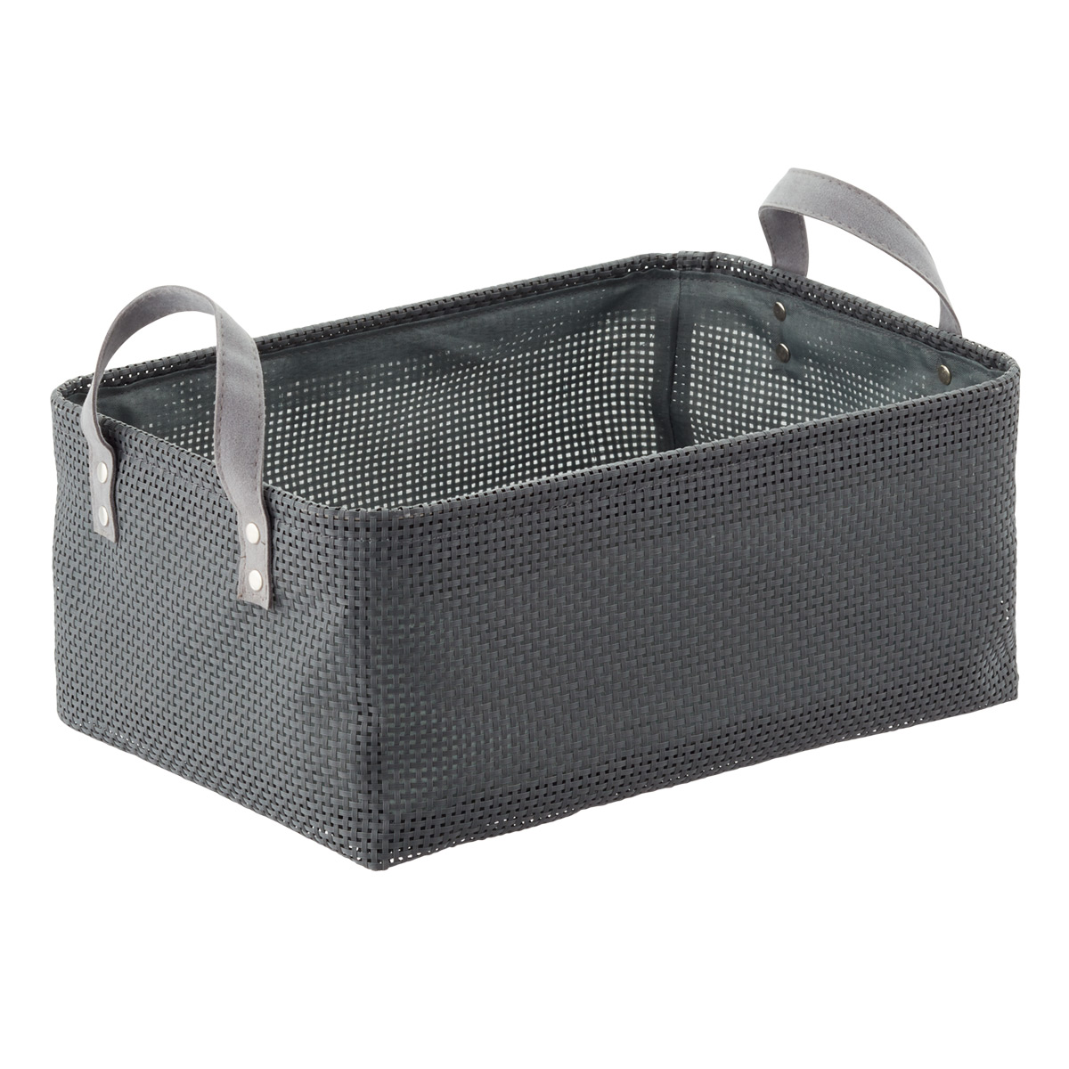 Grey Kiva Foldable Bin with Handles