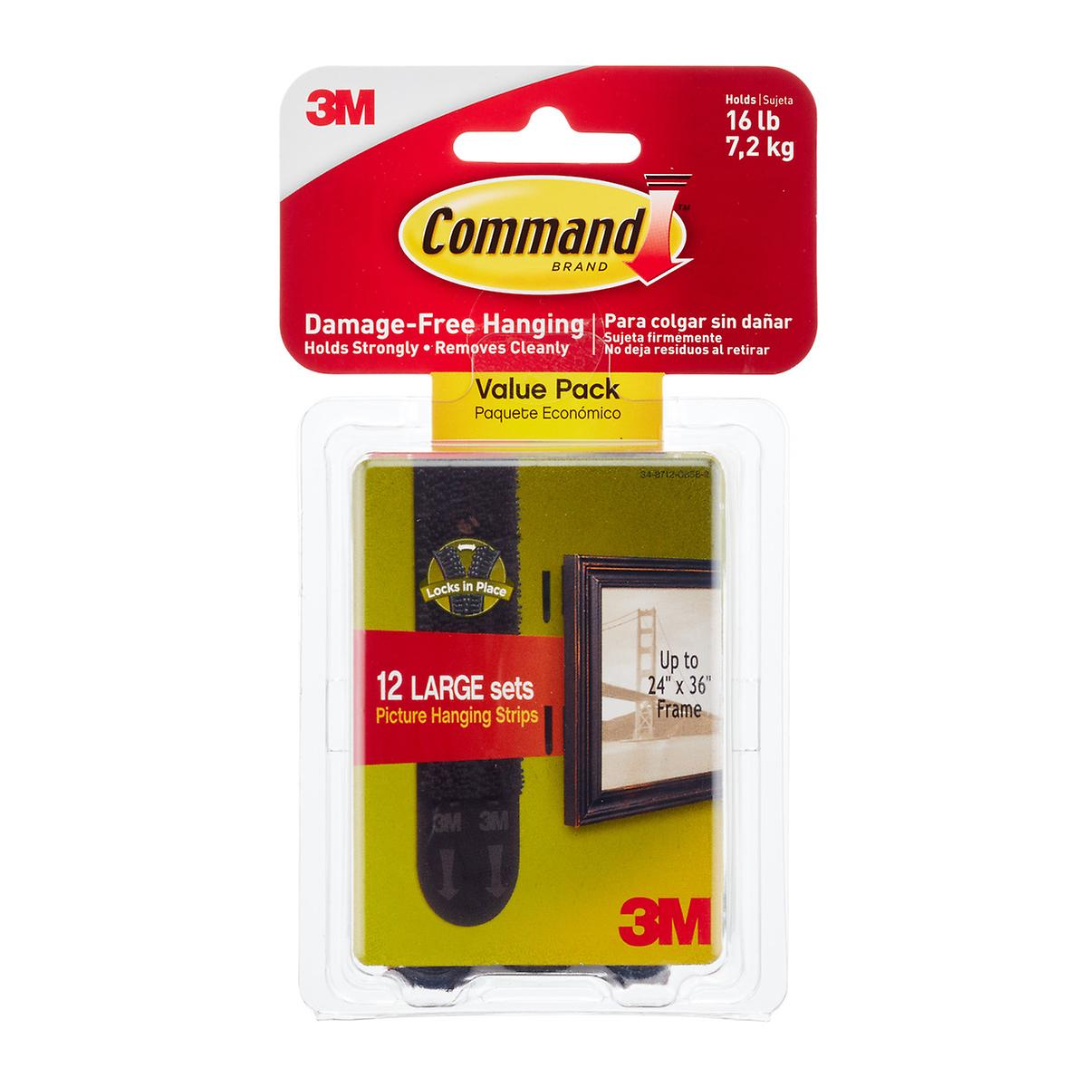 3M Command Adhesive Black Value Pack Picture Hanging Strips
