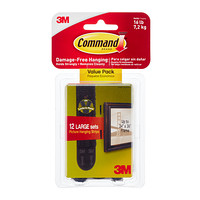 3M Command Adhesive Black Value Pack Picture Hanging Strips Product Image