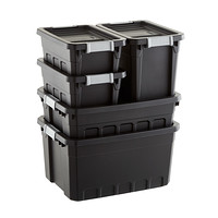 Delicieux Sterilite Black Stacker Totes Cases Of 6