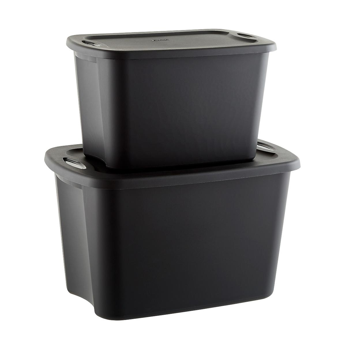 Cases of Sterilite Black Tote Boxes