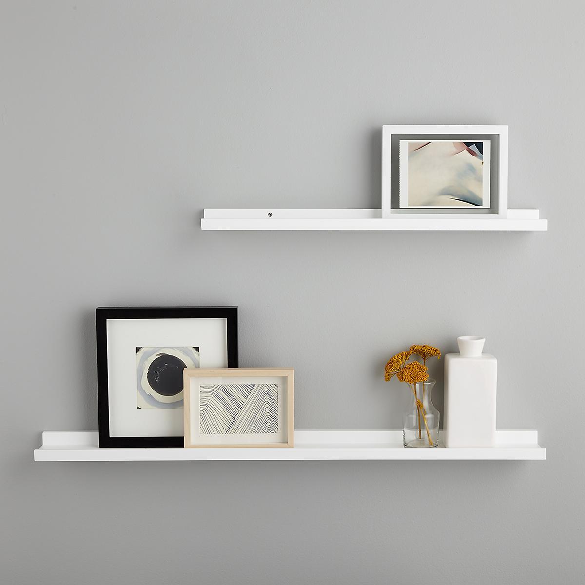 White Ledge Wall Shelves