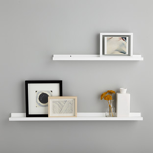 White Ledge Wall Shelves