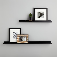 floating shelves wall shelves wall mounted shelving the rh containerstore com shelves on walls ideas book shelves on walls