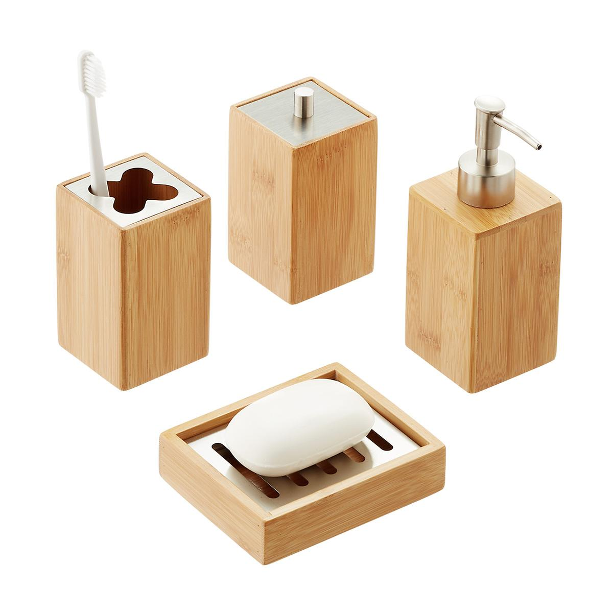 Bamboo Countertop Bathroom Set The Container Store