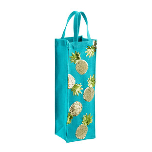 Pineapples Jute Bottle Tote