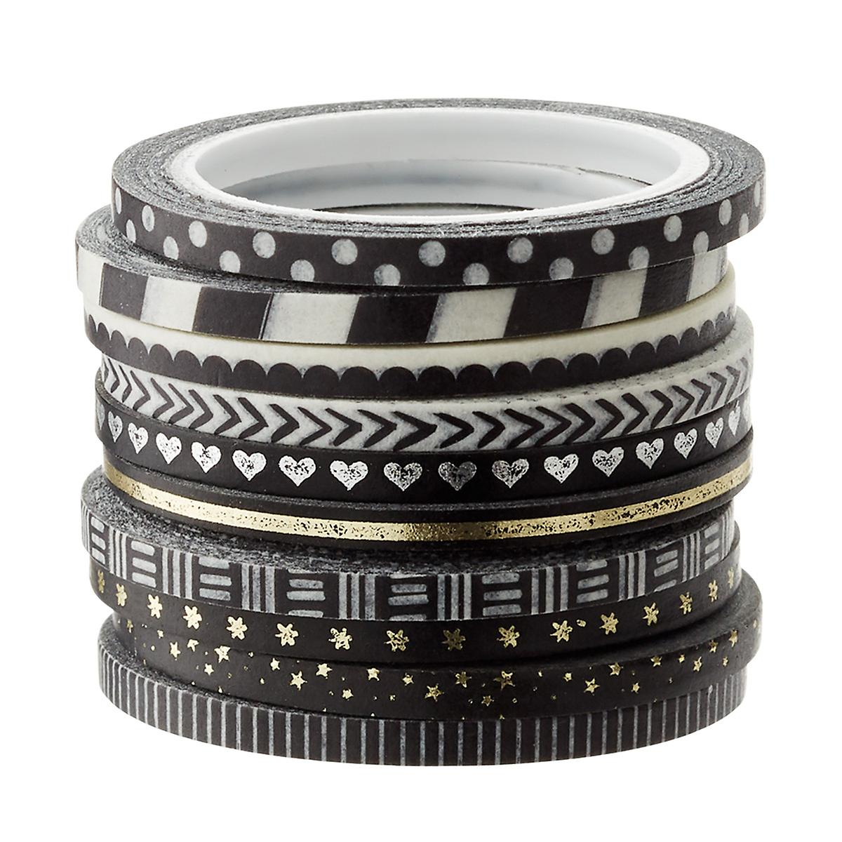 Black & White Washi Paper Tape