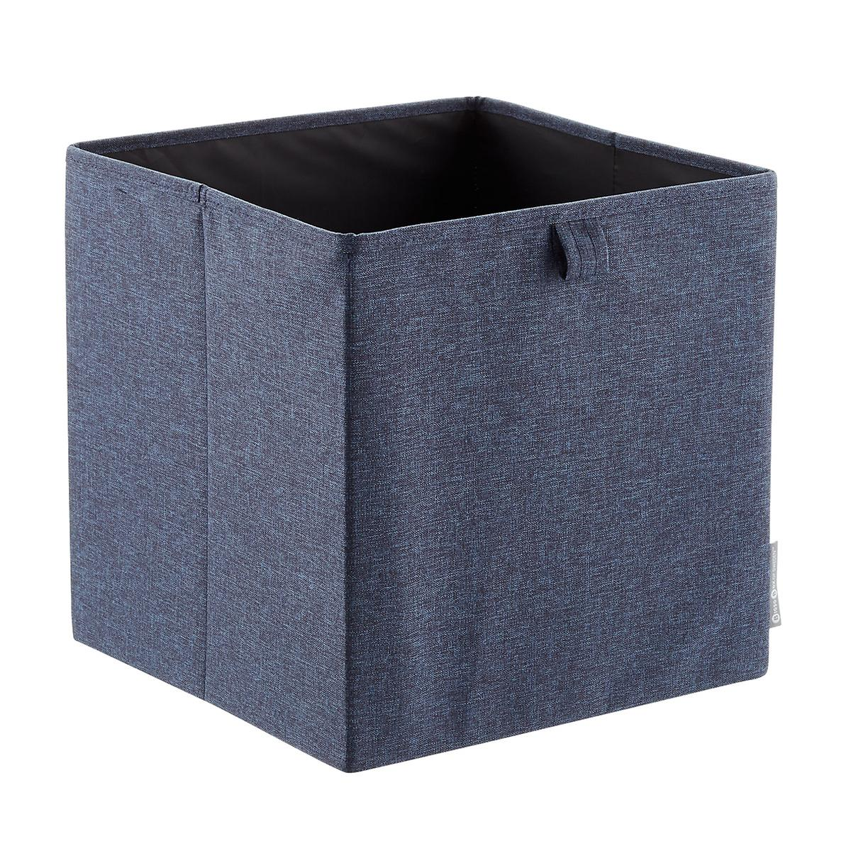Bigso Navy Fabric Storage Cube