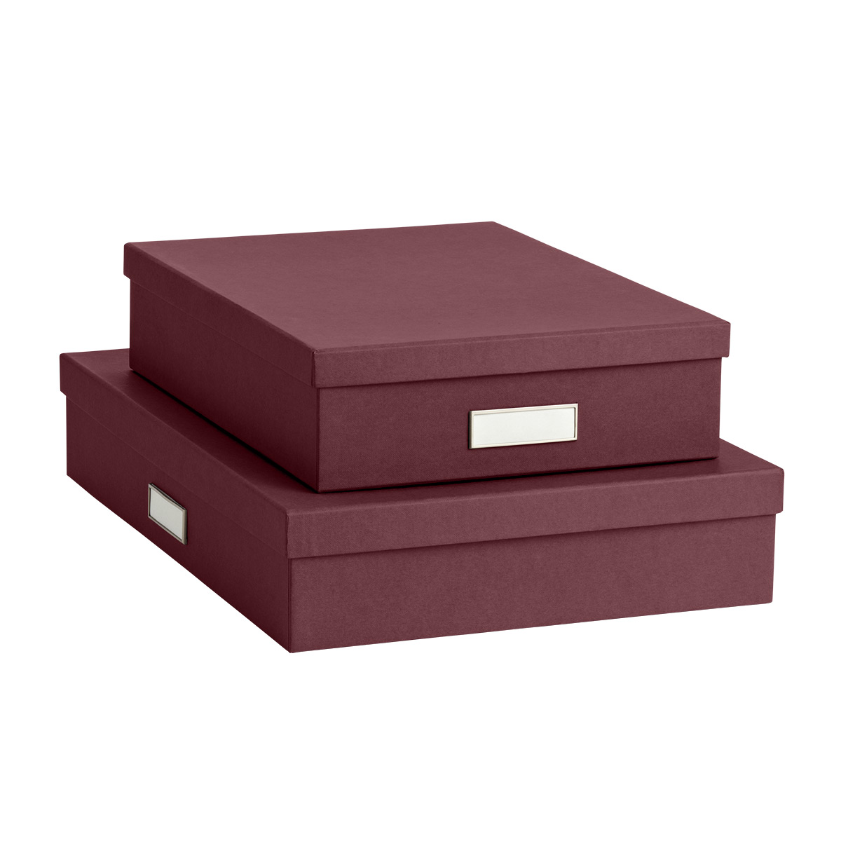 Bigso Bordeaux Red Stockholm Office Storage Boxes