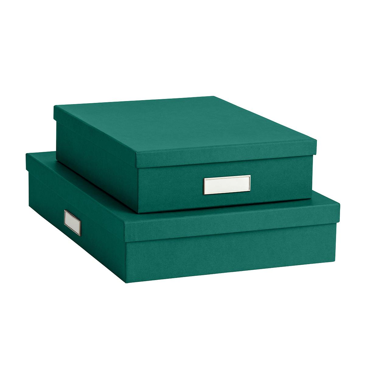 Bigso Emerald Green Stockholm Office Storage Boxes