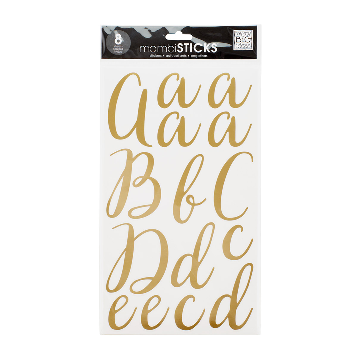 Victoria Gold Foil Alphabet Stickers