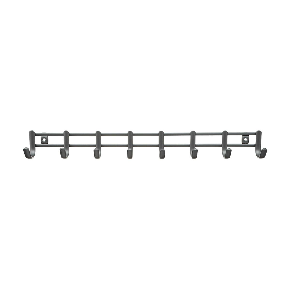 InterDesign Axis Graphite Horizontal Tie & Belt Rack