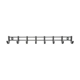 iDesign Axis Graphite Horizontal Tie & Belt Rack