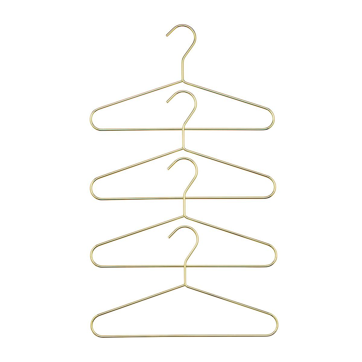 Kids' Gold Metal Hangers Pkg/4