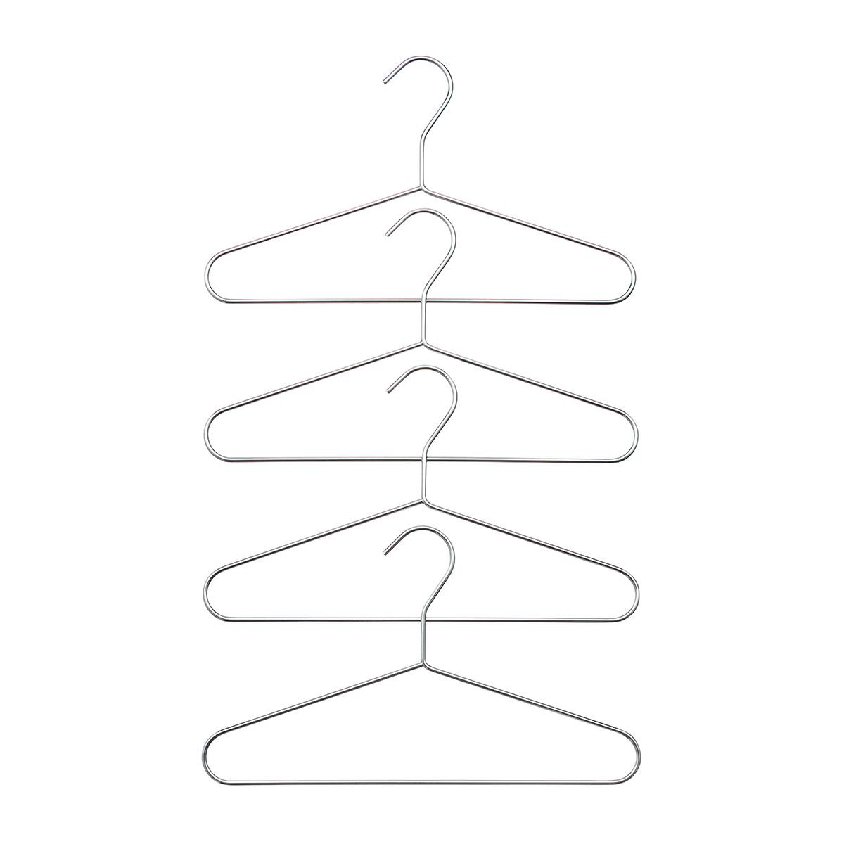 Kids' Chrome Metal Hangers