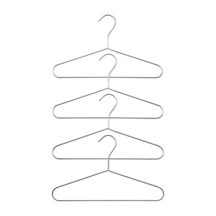 Kids' Chrome Metal Hanger Pkg/4