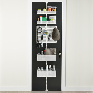 White Elfa Door & Wall Rack