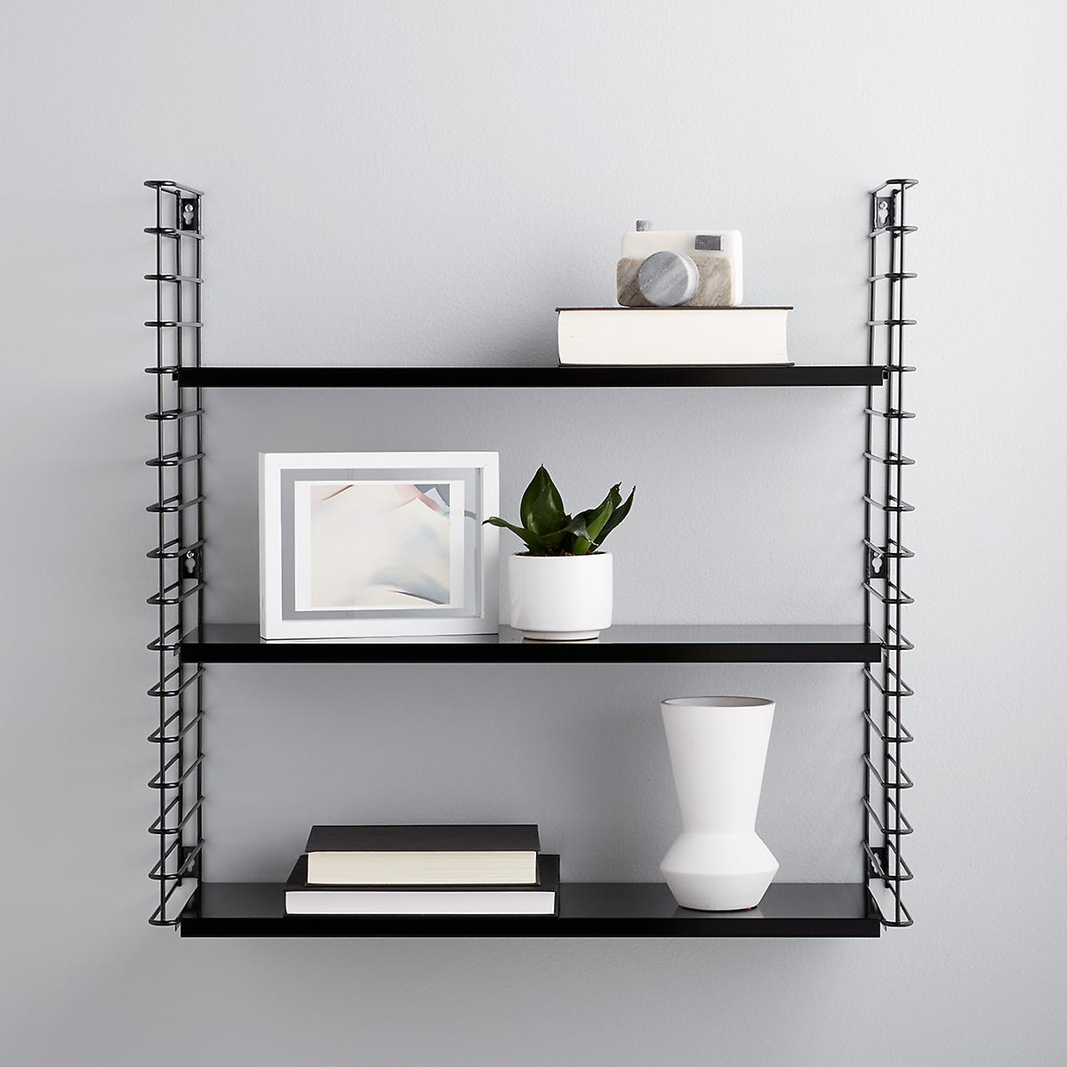 Black Metal Libro Wall Shelf
