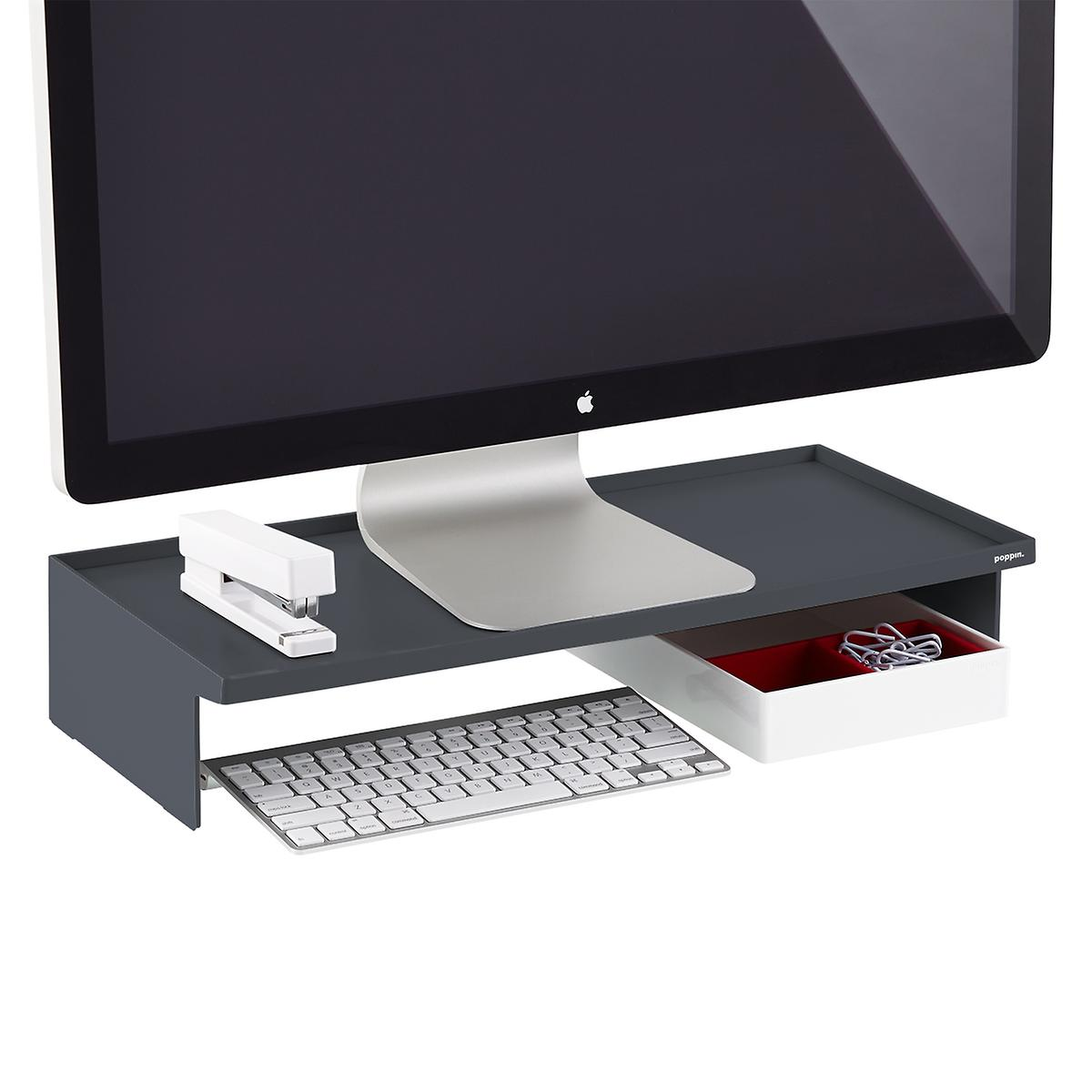 Dark Grey Poppin Monitor Stand