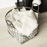 Rustic Decorative Storage Baskets with Handles