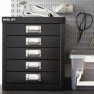 Bisley Black 5-Drawer Cabinet