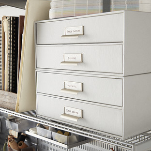 Bigso Light Grey Stockholm Paper Drawers