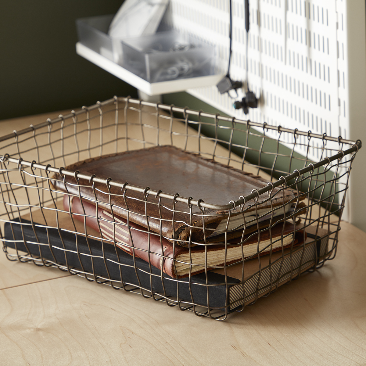 Rustic Marché Steel Wire Storage Baskets