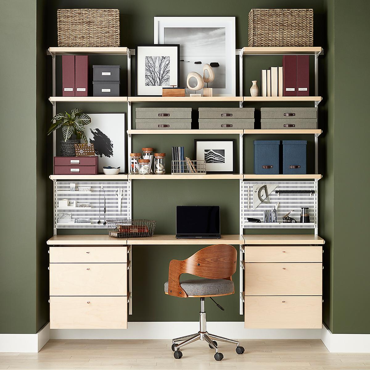 White & Birch Elfa décor Home Office