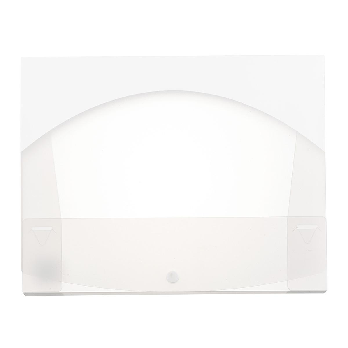 Clear & White Box File