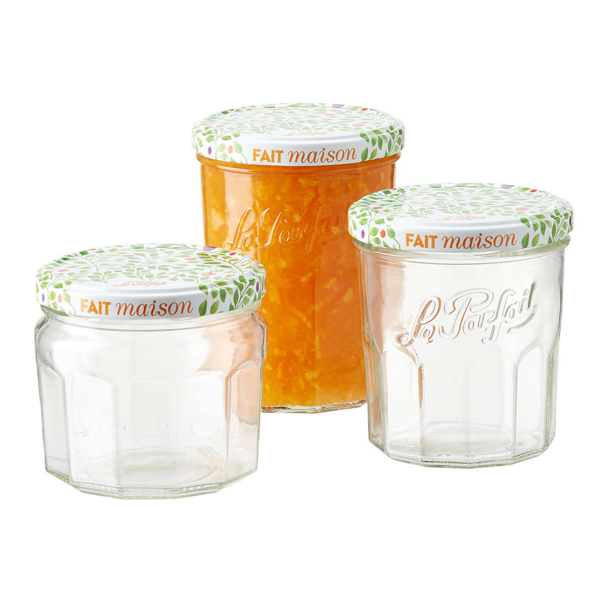 Le Parfait Glass Jam Jars