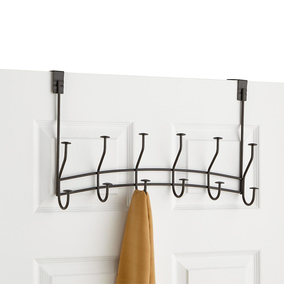 Industrial Grey 6-Double Hook Windsor Over the Door Rack