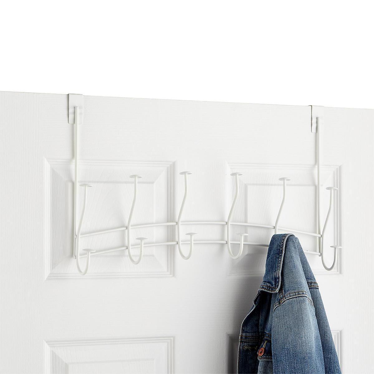 Windsor White 6-Double Hook Over the Door Rack